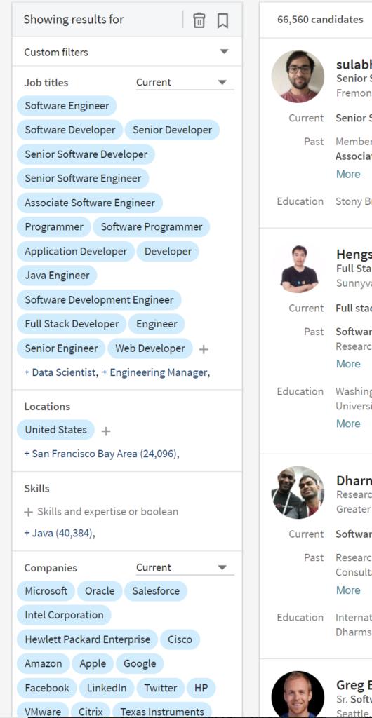 IvyAchievement LinkedIn recruiter search